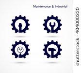maintenance and repair logo... | Shutterstock .eps vector #404000320