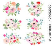 watercolor floral composition.... | Shutterstock . vector #404002030