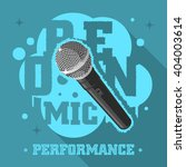 open mic performance.... | Shutterstock .eps vector #404003614