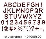vector alphabet letters ... | Shutterstock .eps vector #404005600
