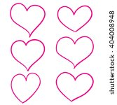 hand drawn hearts set | Shutterstock .eps vector #404008948