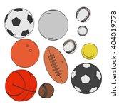 2d cartoon illustration of ball ... | Shutterstock . vector #404019778