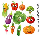 cartoon vegetable characters.... | Shutterstock .eps vector #404020660