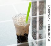 Grass Jelly With Milk And...
