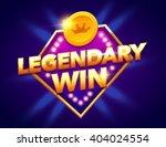 retro sign with lamp legendary... | Shutterstock .eps vector #404024554