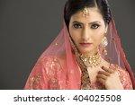 beautiful indian woman in... | Shutterstock . vector #404025508