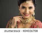 portrait of beautiful indian... | Shutterstock . vector #404026708