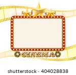 retro theater cinema sign... | Shutterstock .eps vector #404028838