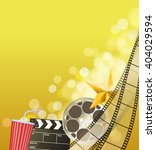 cinema background with... | Shutterstock .eps vector #404029594