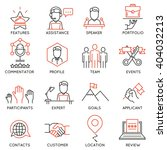 vector set of 16 icons related... | Shutterstock .eps vector #404032213