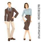 vector illustration of man and... | Shutterstock .eps vector #404038198