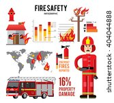 firefighter and icons . fire... | Shutterstock .eps vector #404044888