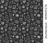 seamless pattern with doodle... | Shutterstock .eps vector #404045176
