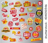 sale tags. sale banners set.... | Shutterstock .eps vector #404050546