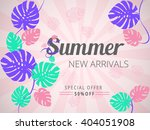colorful summer new arrivals... | Shutterstock .eps vector #404051908