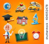 icons back to school | Shutterstock .eps vector #404052478