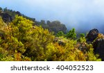 fog at mountains in summer... | Shutterstock . vector #404052523
