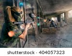 Paintball opposite teams in...