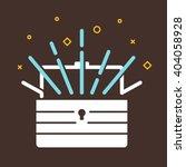treasure chest icon. vector... | Shutterstock .eps vector #404058928