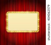 golden frame with light bulbs...   Shutterstock .eps vector #404062579