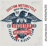 motorcycle typography with ... | Shutterstock .eps vector #404069650