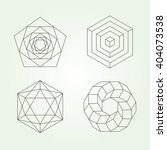sacred geometry vector set | Shutterstock .eps vector #404073538