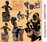 african set . set of african... | Shutterstock .eps vector #404075740