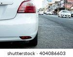 Stock photo back of white car 404086603