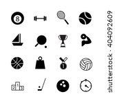 sport icon set on white... | Shutterstock .eps vector #404092609