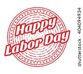 red happy labor day grunge... | Shutterstock .eps vector #404094934