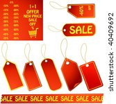red vector price tags   Shutterstock .eps vector #40409692