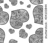 doodle heart seamless texture ...   Shutterstock .eps vector #404103844