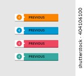 3d previous button set with... | Shutterstock .eps vector #404106100