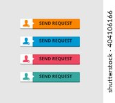 3d send request button set with ... | Shutterstock .eps vector #404106166