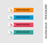 3d book online button set with... | Shutterstock .eps vector #404106280