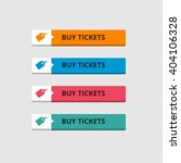 3d buy ticktets button set with ... | Shutterstock .eps vector #404106328