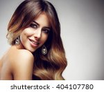 beautiful blonde woman with... | Shutterstock . vector #404107780