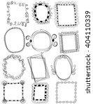 set of doodle frames with no... | Shutterstock .eps vector #404110339