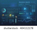 hud ui app. futuristic user... | Shutterstock .eps vector #404112178