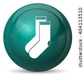 socks icon. internet button on... | Shutterstock . vector #404113510