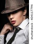 girl in the hat | Shutterstock . vector #404117794