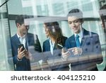 group of business people use of ... | Shutterstock . vector #404125210