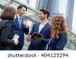 group of business people... | Shutterstock . vector #404125294