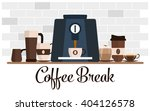 coffee break flat design. cup... | Shutterstock .eps vector #404126578