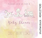 Watercolor Baby Girl Shower...