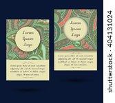 set of boho paisley card... | Shutterstock .eps vector #404131024
