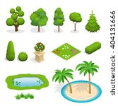 trees isometric  flat  isolated.... | Shutterstock .eps vector #404131666