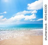 beach and tropical sea | Shutterstock . vector #404140330
