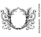 vintage baroque frame scroll... | Shutterstock .eps vector #404141944