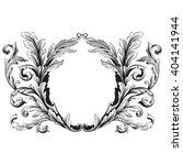 Vintage Baroque Frame Scroll...